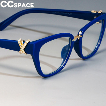 45605 Cat Eye Glasses Frames Women Rhinestone Decoration Styles Optical Fashion Computer Glasses 1