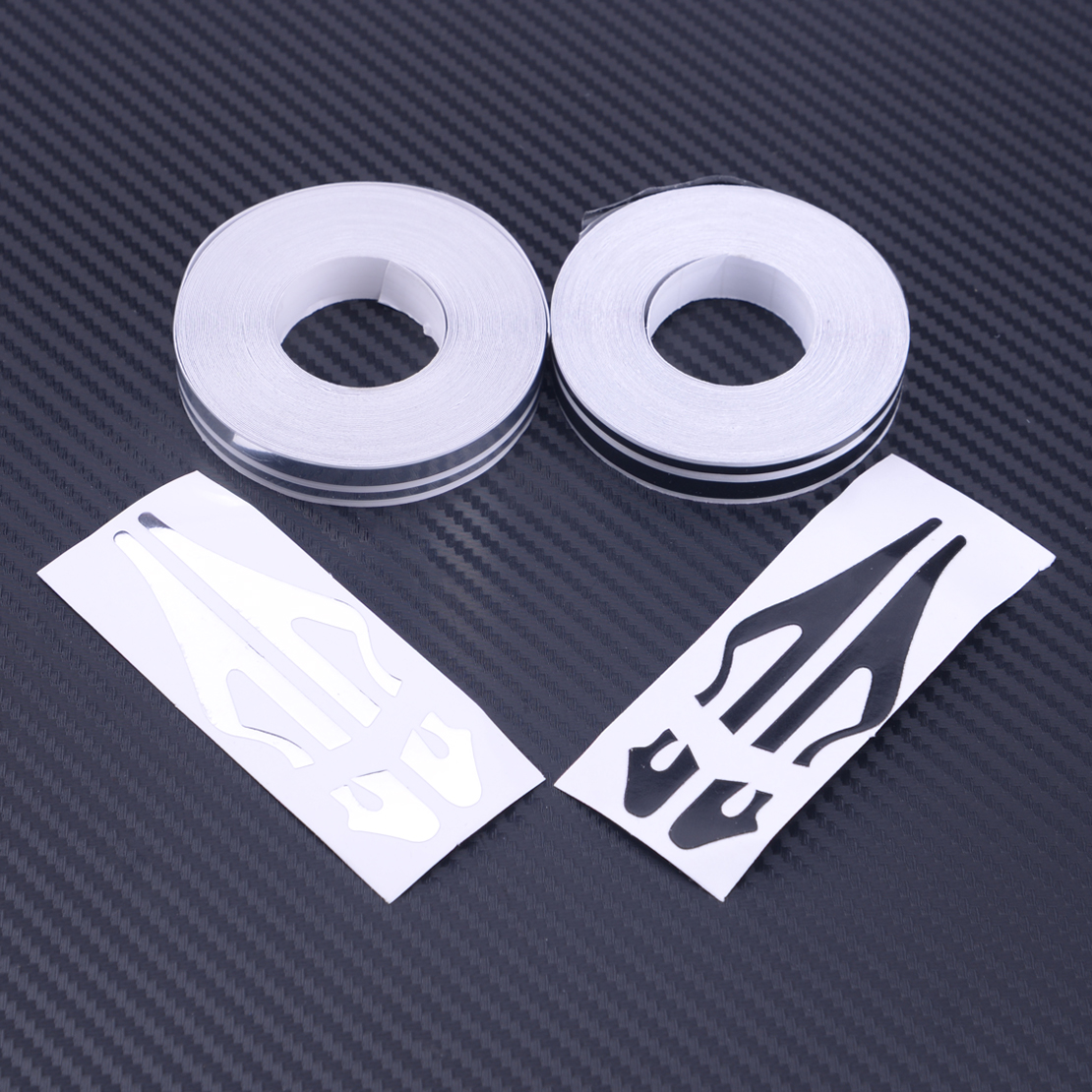 CITALL New Black/Red/Silver Chrome Vinyl 12mm Pin Striping Stripe Line Tape Decal Sticker For Car Boat Motorcycle Helmets