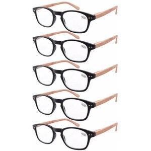 Image 4 - R034 Eyekepper 5 pack Spring Hinge Wood grain Printed Arms Reading Glasses Sun Readers +0.50   +4.00