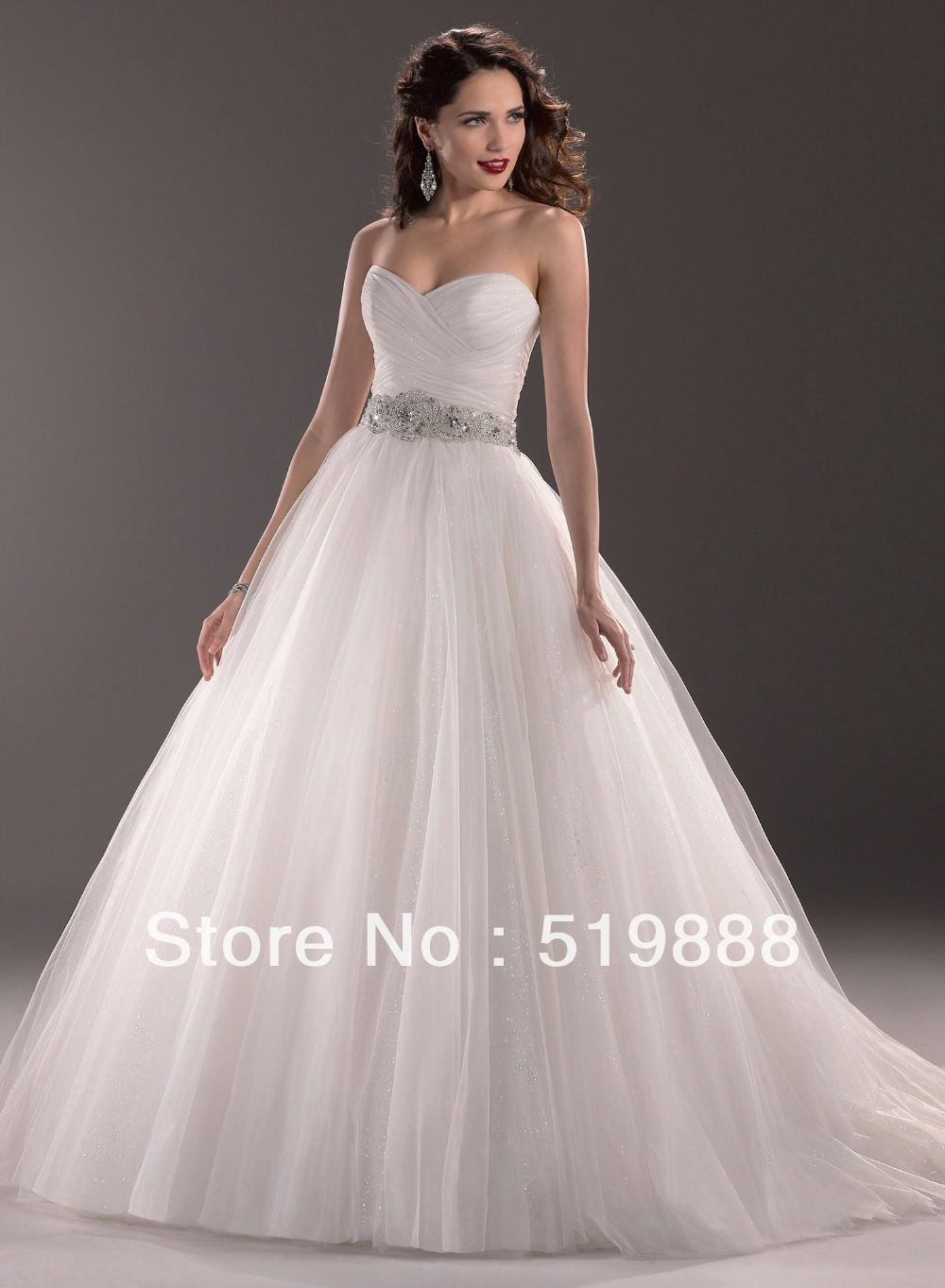 Free Shipping Hot Sale Off Shoulder Crystal Beaded Flying Ball Gown