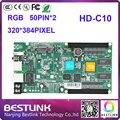 Hd-c10/hd-с1 led контроллер карты rgb видео карты 320*384 пикселей 50pin порт huidu платы управления светодиодный рекламы полноцветный экран