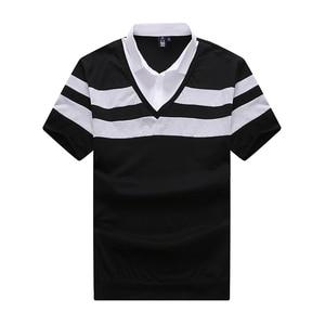 Image 3 - 10XL 8XL 6XL 2018 Moda Marka Çizgili Erkek POLO GÖMLEK Kısa Kollu POLO GÖMLEK Mens Yaz Gömlek rahat üst Shirt Erkek Giyim