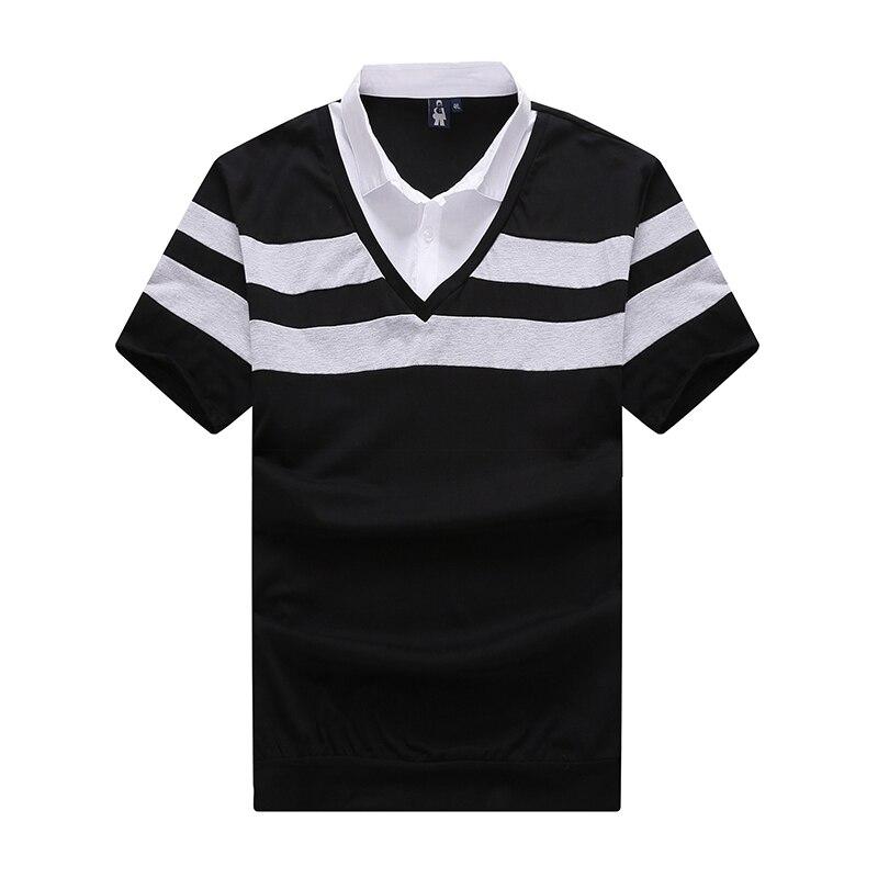 Image 3 - 10XL 8XL 6XL 2018 marque de mode rayé hommes Polo chemise à manches courtes Polo hommes chemise décontracté t shirts vêtements masculins-in Polo from Vêtements homme on AliExpress