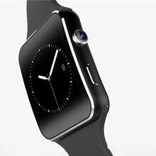 2016B luetooth Smart Uhr X6 + Gebogene Bildschirm Smartwatch Für iPhone Android Telefon Kamera Unterstützung SIM TF Karte Facebook Twitter