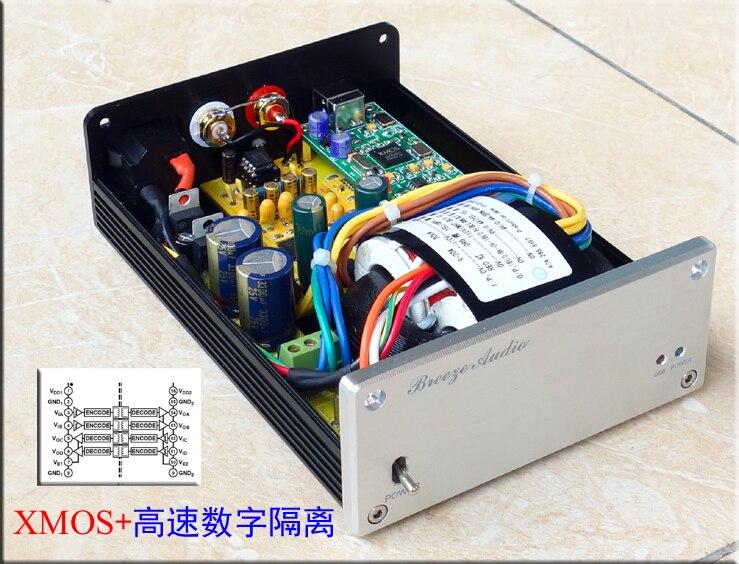 2017 New Breeze Audio DAC SU1 PRO with ADUM high speed digital isolation asynchronous digital audio decoder AK4495 decoder