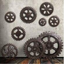 Equipo de madera estilo europeo arte de pared Industrial antiguo Vintage elegante para Bar de Casa equipo de decoración adornos de madera