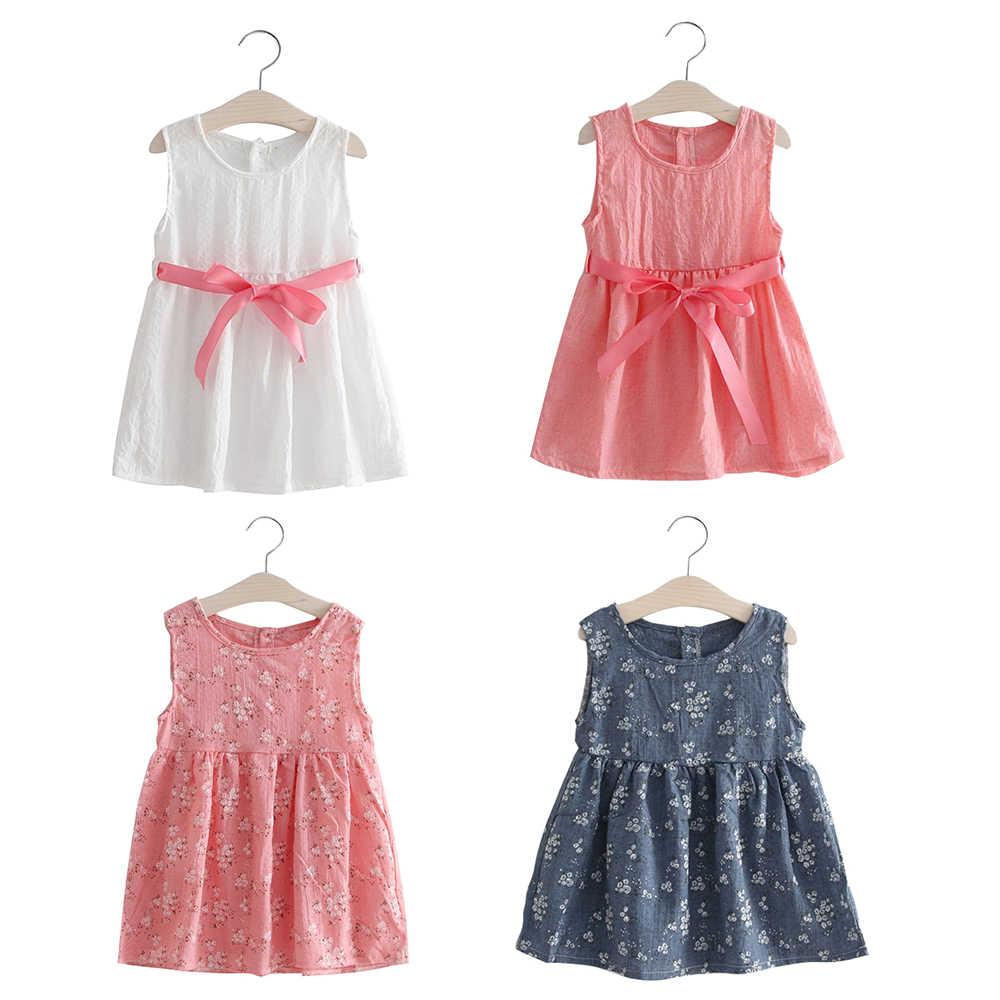 2018 חדש קיץ בנות שמלת יילוד תינוק שמלת תינוק חמוד בנות בגדים פרחוני תינוקות כותנה בגדי ילדים יום הולדת שמלה