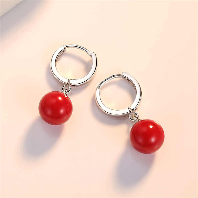 New classic  pearl earrings red earring for women korean  jewelry femme 2019 oorbellen oorbellen
