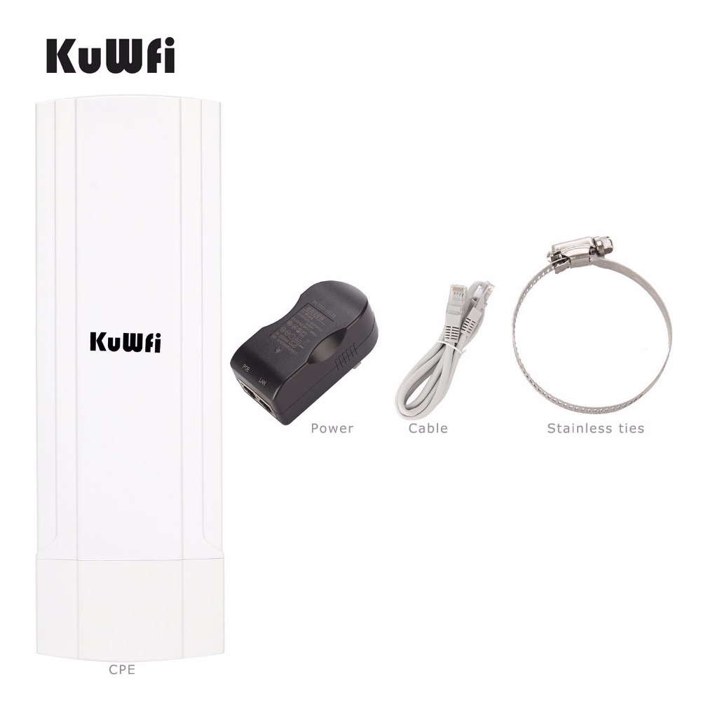 3Km 2.4Ghz 150Mbps Wireless Outdoor CPE Router Wifi Bridge Wifi Repeater Wifi Extender For Camera Monitoring With 12Dbi Antenna