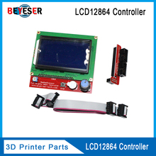 3D printer display LCD12864 cpompatible Ramps1.4 liquid crystal smart controller Reprap 12864 lcd for circuit board high quality недорго, оригинальная цена