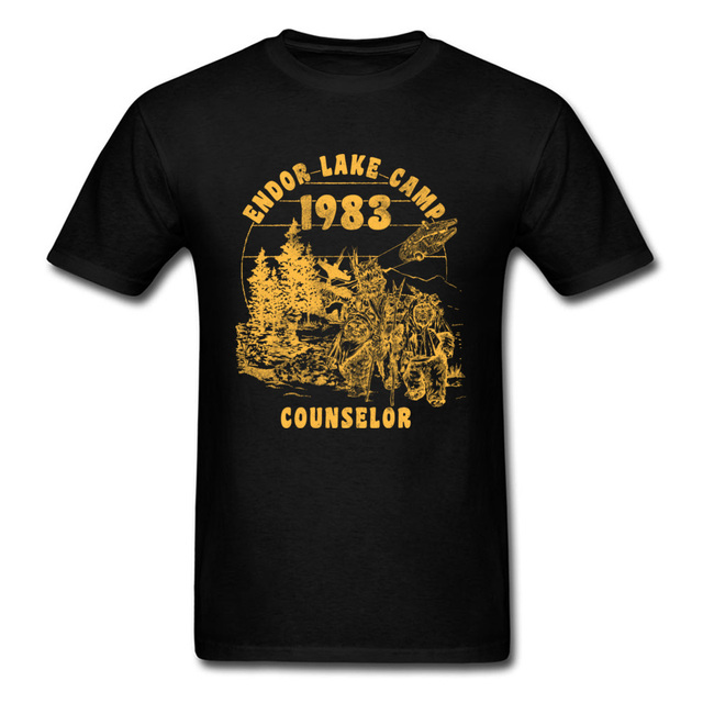 e17bb67ecd3 Endor Lake Camped Counselor Star Wars Mens T Shirt 2018 1983 80s Black T-shirt  Men Vintage Clothing Hip Hop Streetwear
