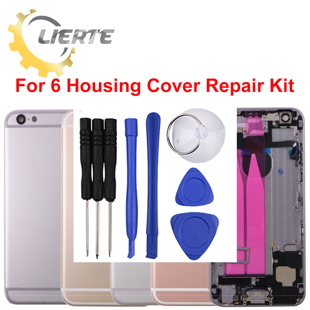 Torx Screwdriver Repair For IPhone 6 6G Frame Bezel Chassis Back Full Housing Battery Door Rear Cover Body With Flex Cable