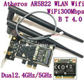 Desktop wifi WLAN Atheros AR5B22 300M Wireless Wifi Bluetooth 4.0 PCI-E Card Desktop Adapter 6DB antenna