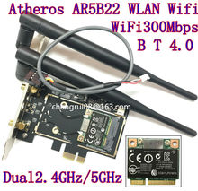 Desktop-wifi wlan atheros ar5b22 300m wireless wifi Bluetooth 4.0 pci-e karte Desktop-Adapter 6 dB antenne