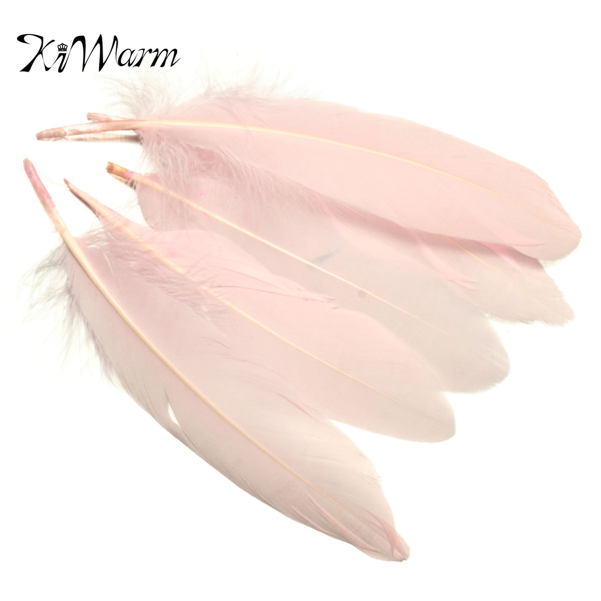 50pcs/set Long Light Pink Goose Feathers for Millinery Hat