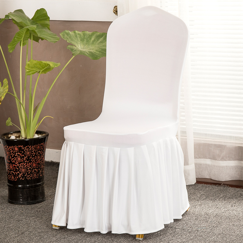 Home Textile New Fashion Chair Cover Wedding Decoration Solid Colors Polyester Spandex Diner Chair Covers For Wedding Party 6pcs Punctual Timing