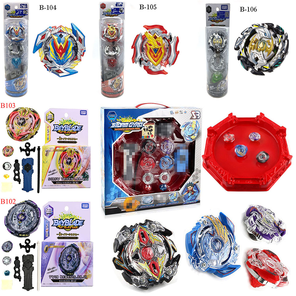 Beyblade Burst 4D Set With Launcher and Arena Metal Fight Battle Fusion Classic Toys With Original Box For Kid Christmas Gift F3