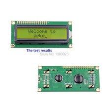 משלוח חינם 10 יח\חבילה חדש LCD 1602 LCD1602 5V 16x2 תווים LCD תצוגת מודול בקר צהוב blacklight