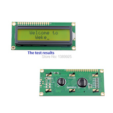 Free Shipping 10pcs/Lot New LCD 1602 LCD1602 5V 16x2 Character LCD Display Module Controller Yellow blacklight
