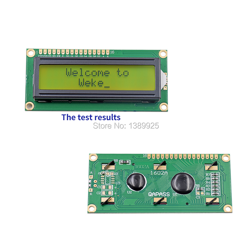 Free Shipping 10pcs/Lot New <font><b>LCD</b></font> 1602 LCD1602 5V <font><b>16x2</b></font> Character <font><b>LCD</b></font> <font><b>Display</b></font> <font><b>Module</b></font> Controller Yellow blacklight image