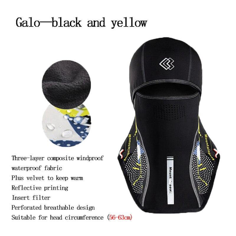DEROACE hiver chaud capuche hommes et femmes cyclisme complet masques visage Ski froid chapeau pare-brise équipement extérieur coupe-vent chaud casque - 6