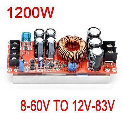 Nueva 1200 W 20A DC Converter Step up Módulo Boost Step-up Power 8-60 V A 12-83 V