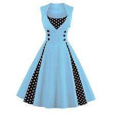 Retro Vintage Polka Dress