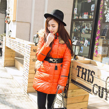 Winter Casual Women's Jacket Fur Collar Down Padded Coat Jackets Female Long Outerwear Slim Down Parka Female C1126