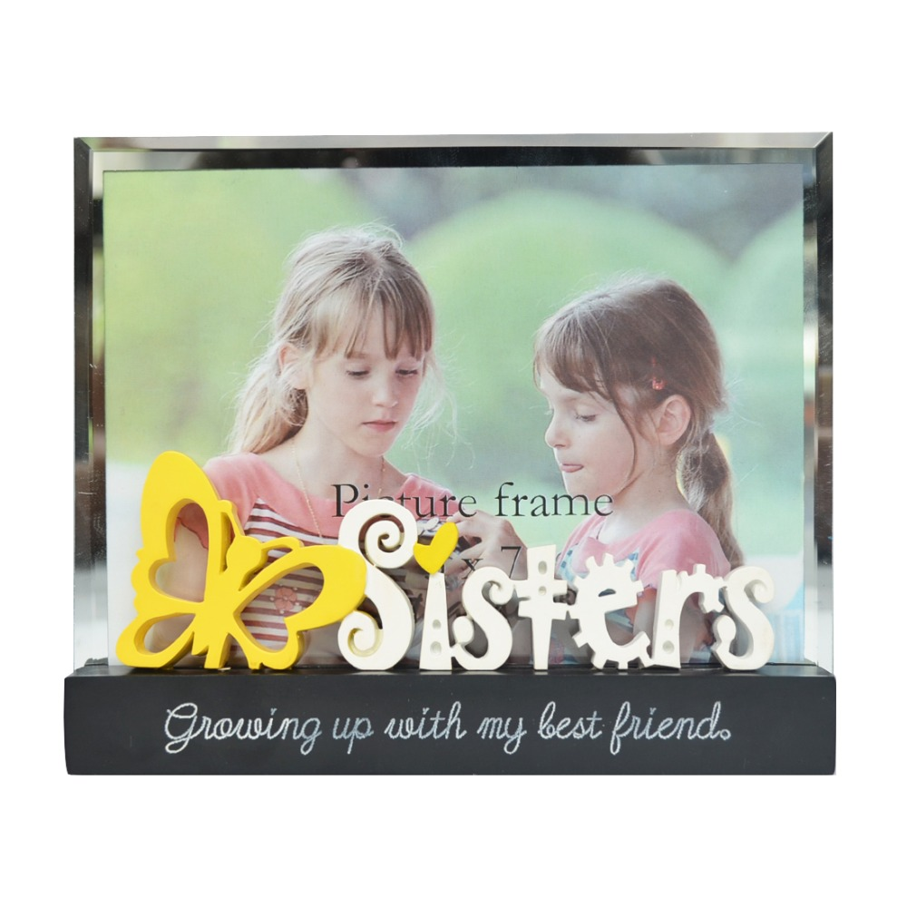 5x7 glass covering picture frames decorative photo frame for photo 5x7 glass covering picture frames decorative photo frame for photo display protect picture gift for siblings sisters friends in frame from home garden on jeuxipadfo Image collections