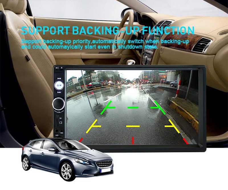 7 pollici Car radio MP5 lettore 2 DIN Autoradio FM/USB/TF touch screen AUX bluetooth radio cassette player con Funzione di Mirrorlink