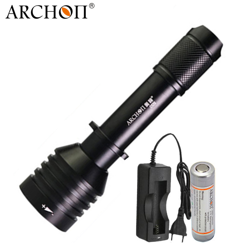 ARCHON D12U Diving Video Light Professional Underwater Light Red Blue UV Fill light Diving Flashlight Waterproof