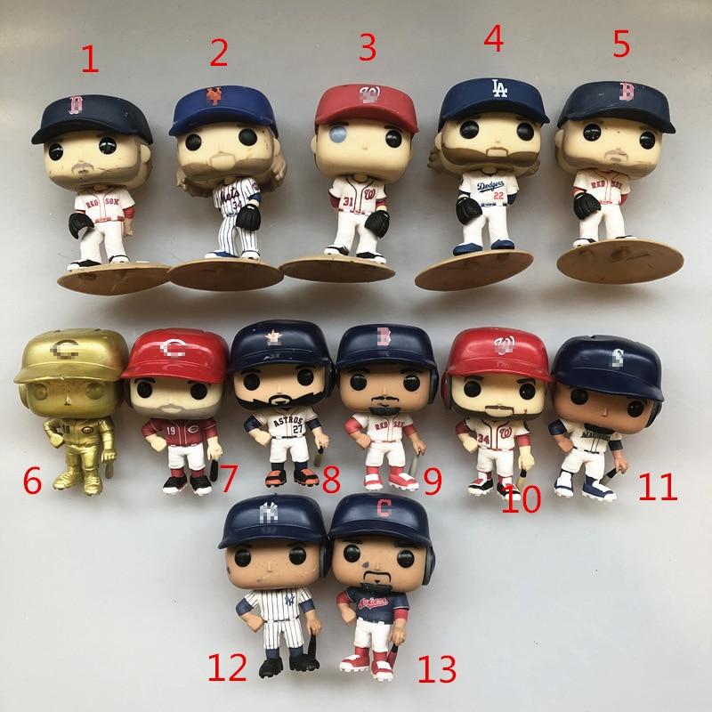 Original Funko pop Secondhand Sports: Baseball Legends Noah Jose Mike Max Vinyl Action Figure Collectible Model Loose Toy