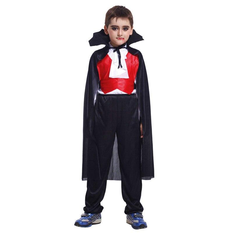 Vampire Costume for Kids Boys Carnival Halloween Masquerade Ghost Devil Fancy Dress Children Cosplay Costume
