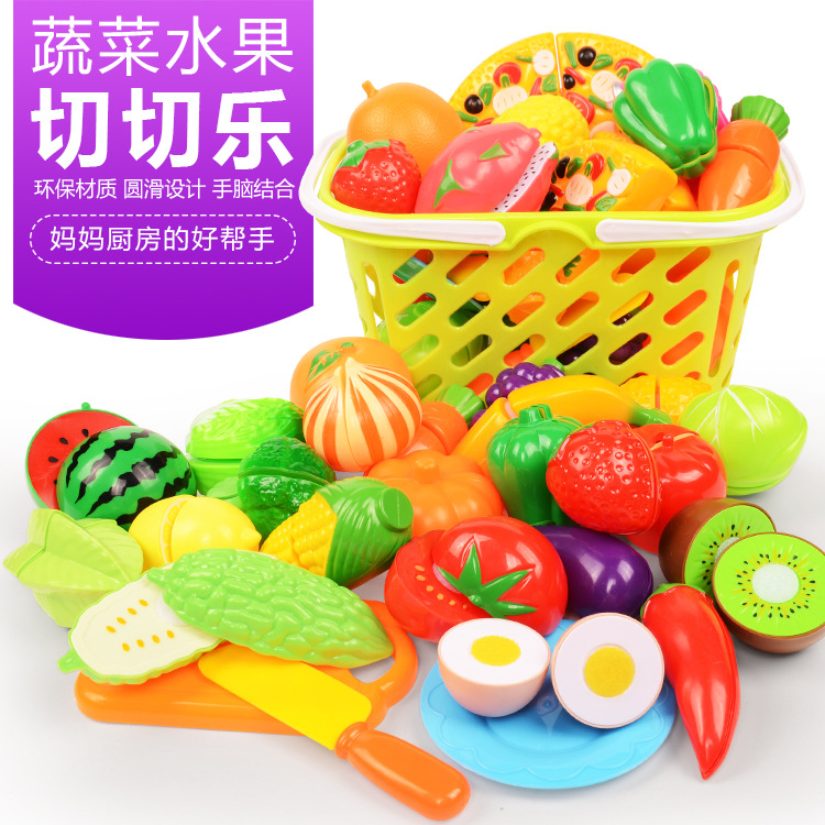 Fruits And Vegetables, Cut And Cut, Children's Educational, Early Childhood, Play, Kitchen Toys, A Variety Of Optional