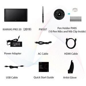 Image 5 - KAMVAS Pro 20 2019 Version 19.5 Inch Pen Display Digital Graphics Drawing Tablet Monitor IPS HD Pen Tablet Monitor 8192 Levels