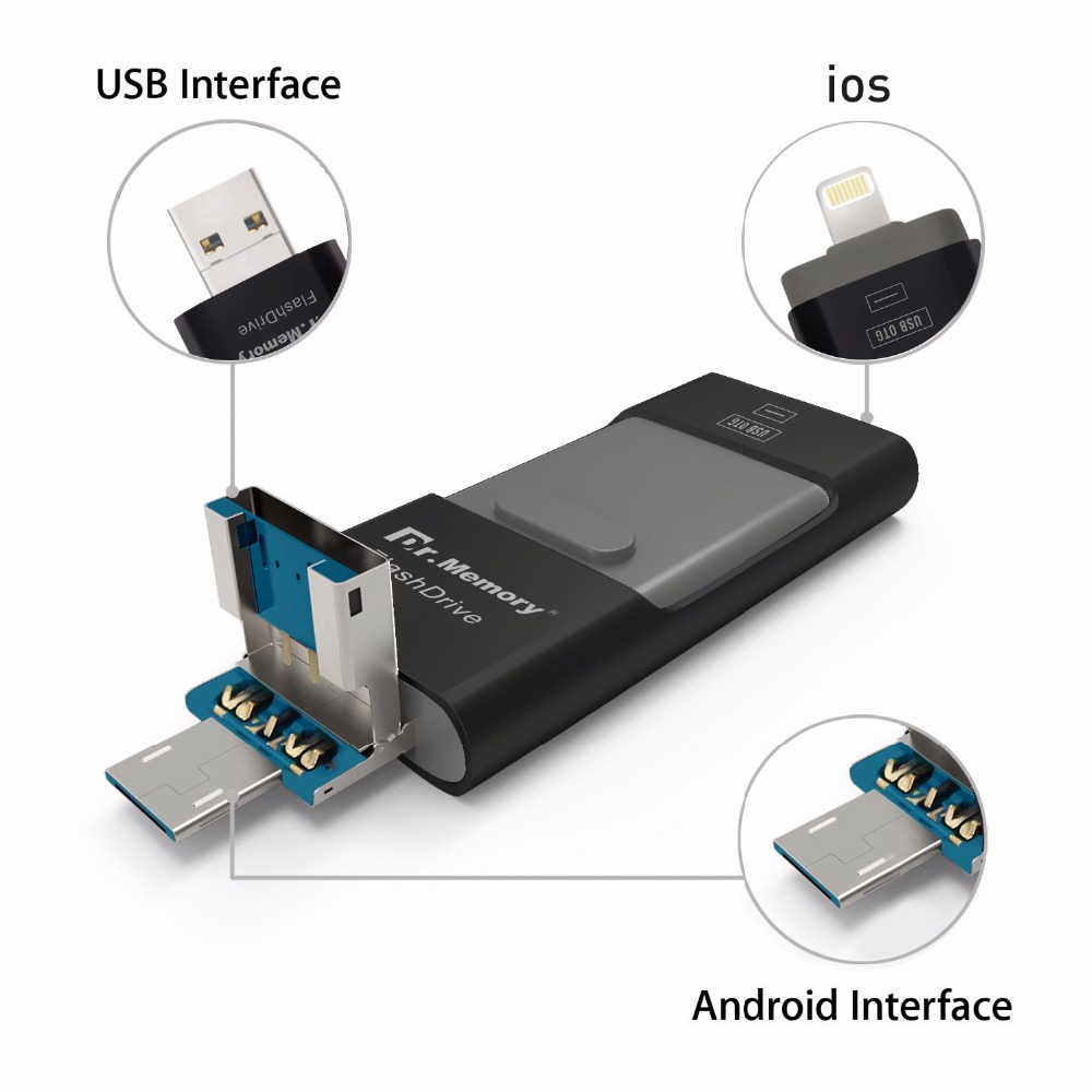 I flash drive for iphone 7plus apple 6s Pen Drive 16g 32g 64g andorid OTG Pendrive