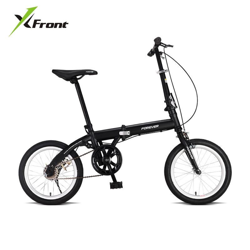 Light Weight Bike 16 Inch Carbon Steel Frame V Brake Folding Bike Lady Children Bicicletas MBX Women Student Bicycle