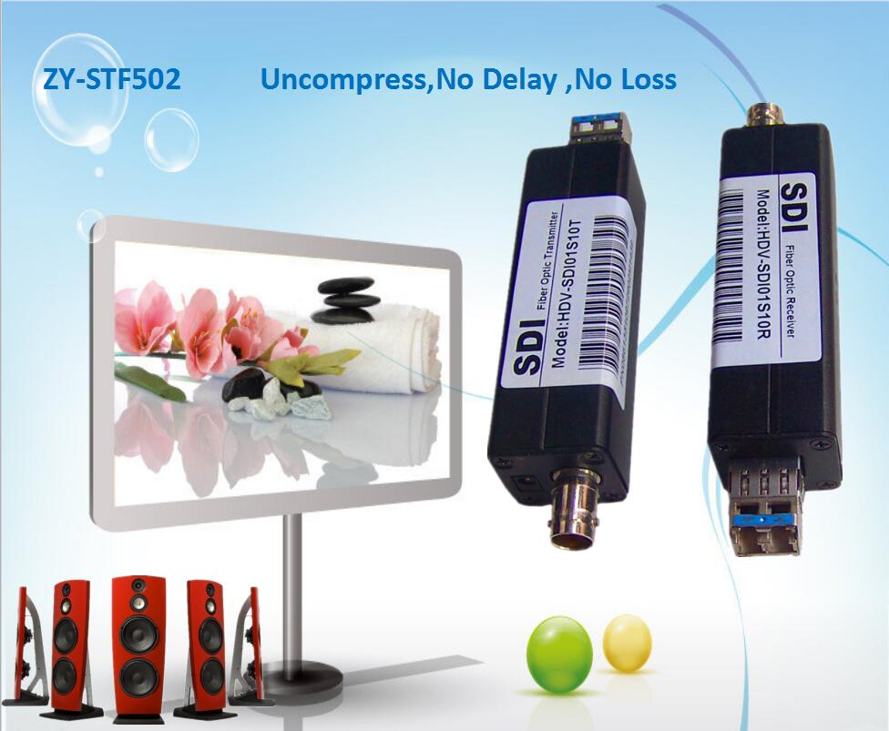 ZY STF502 HD SDI Over Fiber Optic Media BNC Converter 1080P No Losss Delay HD SDI