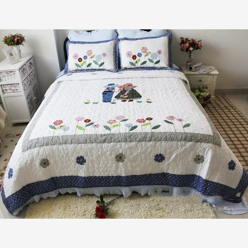 king size handmade quilts chausub handmade cotton quilt set 3pcs quilted bedspread 6656