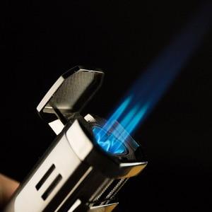 Ветрозащитная Зажигалка PIPITA, многоразовый бутановый фонарь, турбо-зажигалка, 3 струйные зажигалки с пламенем, зажигалка с дырочками, газовая зажигалка для сигарет