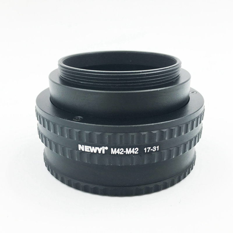 NEWYI M42 M42(17 31mm) Mount Adjustable Focusing Helicoid Adapter 17 31mm Extension accessory-in Lens Adapter from Consumer Electronics