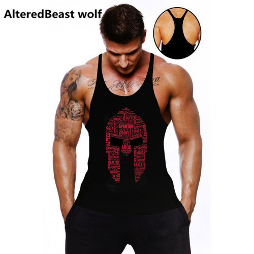 2018 Men   Tank     Tops   Spartan Print Fitness   Tank     Top   Men Brand   tops   Sleeveless Bodybuilding Shirt workout stringer mens clothing