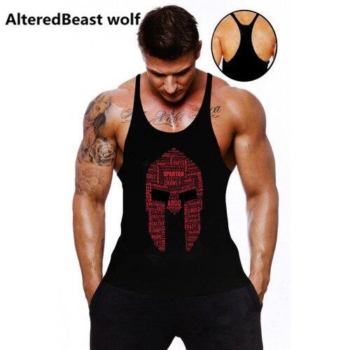 2018 Uomini Canotte Spartan Stampa Fitness Canotta Uomo Marca top Senza Maniche Bodybuilding Shirt allenamento stringer abbigliamento uomo