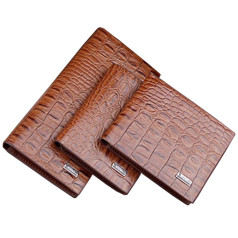 ab54bfb4d557 Men Wallets Genuine Leather High Quality 3 Size Wallet New Style ...
