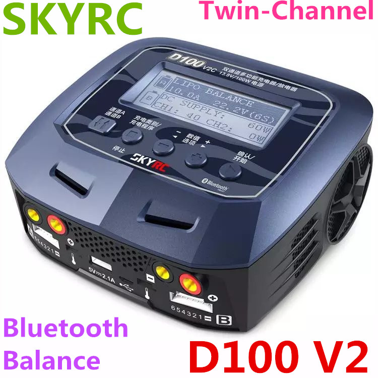 все цены на SKYRC D100 V2 charger dual output intelligent balance charger discharger chinese version charge LiFe LiIon LiHV NiMH NiCd LiPo онлайн