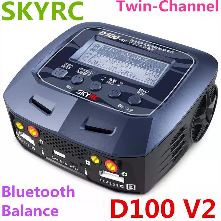 SKYRC D100 V2 ladegerät dual ausgangs intelligente balance ladegerät entlader chinesische version ladung Leben LiIon LiHV NiMH NiCd LiPo