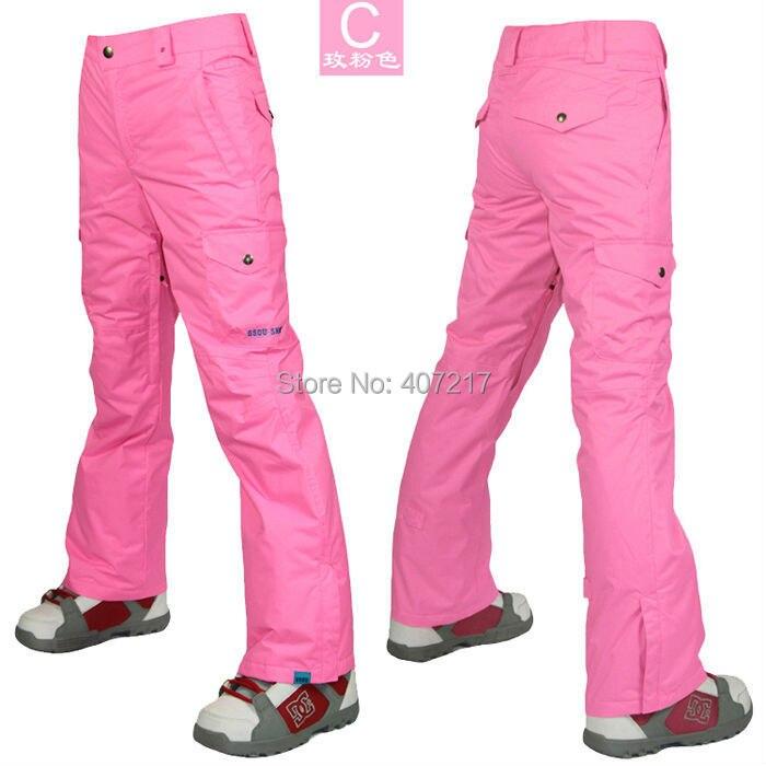 2017 womens rose red ski pants ladies snowboarding pants outdoor sports  pants skating pants ski jupon waterproof breathable warm-in Skiing Pants  from Sports ... b4ee16e77