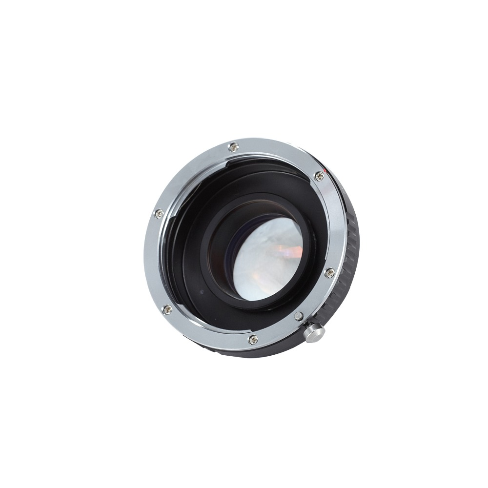 Meking Focal Reducer Speed Booster Adapter EF Lens to Micro 4/3 M43 Camera for Olympus Panasonic BMD BMCC MFT BMPCC Z Camera E1 lanparte lpt wireless lanc controller for bmcc bmpcc for sony fs5 canon micro camera for video shooting youtube blog