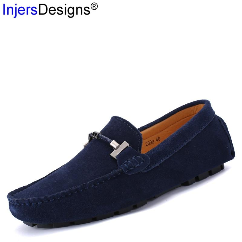 Souples Taille brown Mode Slip Mocassins Casual De Conduite 47 Hommes Bateau Chaussures on Respirant En Black Daim Grand Arrivée Métal blue 38 khaki Nouvelle RL3jq54A