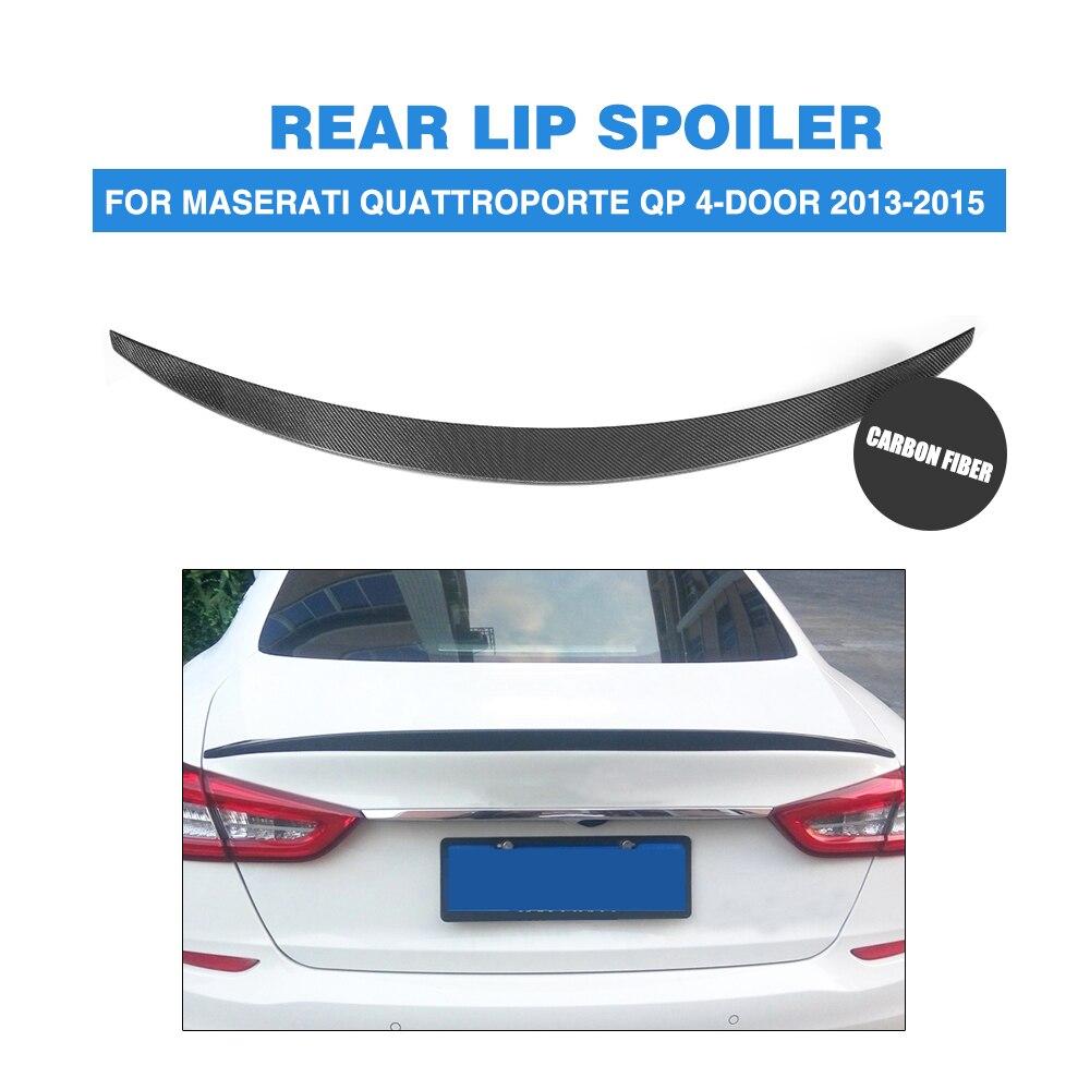 Fibre de carbone couvercle de coffre arrière aileron aile de coffre lèvre pour Maserati Quattroporte QP Executive GT 4 portes 2013 2014 2015